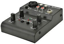 Citronic Q-MIX2 USB 2 CHANNEL COMPACT MIXER SOUND AUDIO STUDIO RECORDING