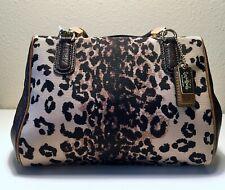 Coach Madison Ocelot Print Mini Handbag Satchel
