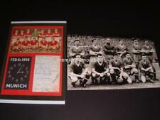 MANCHESTER UNITED FC BUSBY BABES SIGNED x 14 MUNICH 1958 & 1957 v REAL MADRID FC