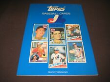 TOPPS EXPOSE CARD BOOK EVERY TOPPS EXPOS CARD FROM 1969-1989 IS LISTED