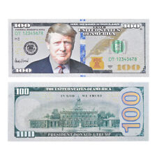 WR Trump US 100 Dollar Bill Silver Foil America Novelty Banknote Cards Gift 2018