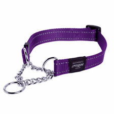 Rogz Utility Half Check Dog Obedience Collar - 8 Colours 3 sizes