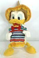 Disneyland Walt Disney World Donald Duck Caballeros Plush 30 inches Vintage 1977