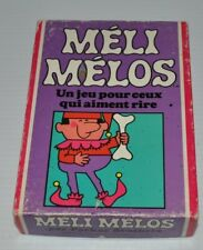 MELI MELOS (Funny Bones) FRENCH CARD GAME Parker Brothers 1968