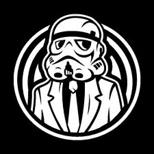 All Business Storm Trooper White Vinyl Decal Star Wars Theme Car Window Sticker
