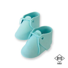 Pme Cake Icing Handcrafted Sugar Sugarcraft Decoration Topper - Baby Bootee Blue