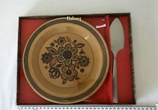 Vintage Boxed Royal Worcester PALISSY Plate + Firth Steel Cake Slice Set