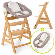 Hauck Alpha Plus Baby Hochstuhl Set 3 tlg. Newborn Set ab Geburt nutzbar Natur