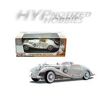 MAISTO 1:18 PREMIERE 1936 MERCEDES-BENZ 500K ROADSTER DIE-CAST WHITE 36055