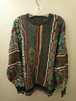 Vtg Bandini Le Collezioni Men's Coogi Style 3D Textured Sweater L Biggie Cosby