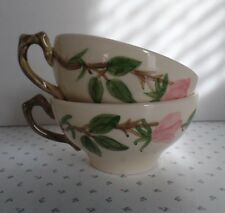 Two Vintage FRANCISCAN CHINA Tea/Coffee Cups DESERT ROSE