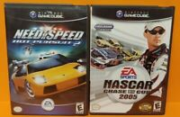 Need For Speed + Nascar Chase 4 Cup  Nintendo GameCube Tested Complete Game Lot