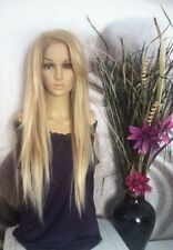 Human hair blend honey/ash blond mixed with 613  Blonde Lace Front Wig Clearance