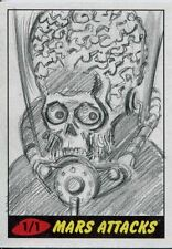 Mars Attacks Heritage Sketch Card By Unknown Artist
