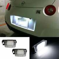 1 Pair Number License Plate LED Light Lamp for Nissan Versa 350Z Cube Leaf