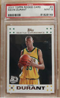 2007-08 Topps #2 Kevin Durant Rookie Card PSA 9 MINT NETS RC Regrade 10?