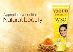Vicco Turmeric WSO Skin Cream Ayurvedic Acne Pimples Boils Infection Wound Vegan