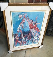 """LEROY NEIMAN """"HOOSIER HOOPLA"""" SIGNED LIMITED EDITION LITHOGRAPH MATTED & FRAMED"""