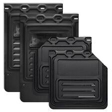 """Mud Flap for Semi Truck & Trailer 4 pcs Set (24"""" x 24"""" Cut, 24"""" x 36"""" Black)"""