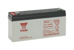 Batterie modélisme plomb étanche YUASA NP1.2-6 6v 1.2ah 97x25x54.5mm