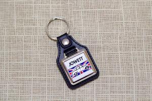 Jowett Javelin Keyring - Leatherette and Chrome Keyfob