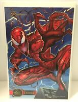 "1995 Flair Marvel Annual CARNAGE 6 1/2 x 10"" Flair Prints Jumbo Card A-46"