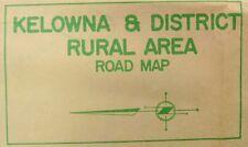 1960's Kelowna British Columbia vintage Chamber of Commerce area road map b