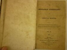 1822 UNITARIAN Miscellany & CHRISTIAN MONITOR Jared Sparks BALTIMORE Periodical