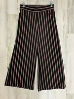 Max Studio Women's Black Red Stripe Wide Leg Palazzo Pants Size XS  NWTII29