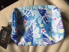 NWT Zipper Pouch Sea Turtle Cosmetic Case Makeup Bag Ocean Life Clutch Purse