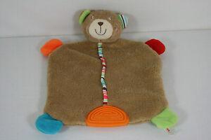Schmusetuch Topolino süßer bunter Bär  mit Beißecke top (Z)