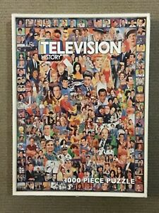 """WHITE MOUNTAIN PUZZLES """"Television History"""" 1000 PIECE PUZZLE"""
