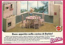 X1808 Buon appettito nella cucina di Barbie - Pubblicità del 1990 - Vintage ad
