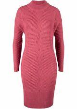 Neu Strick Oversize Kleid mit Muster, 926647 in Rauchhimbeere 48/50