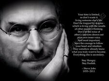 "Steve Jobs Co-founder of Apple Corp Fabric poster 32"" x 24"" Decor 03"