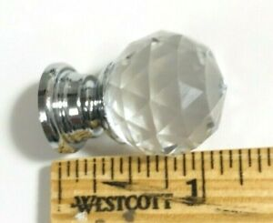 9 SMALL Cabinet Knobs Clear Crystal Glass Drawer Cabinet Glass Knobs lot set NEW