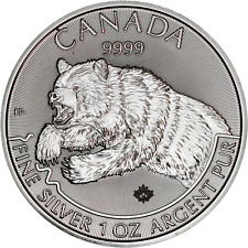 2019 Canada Predator Series: Grizzly 1 oz. Silver .9999 Fine Mint Condition $5