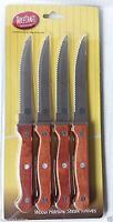 TableCraft Wood Handle Steak Knives, Set of 4, New, Free Shipping