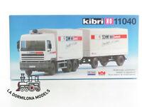 KIBRI 11040 H0 CAMION DAF con REMOLQUE CERRADO WACKENHUT - NUEVO