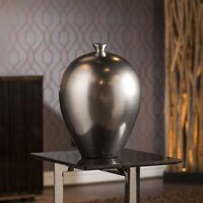 Vibrant Large Round Silver Shimmer Porcelain Ornament Present Pot Vase