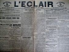 WW1 LUTTE BELGIQUE COMBATS YPRES COMMUNIQUéS JOURNAL L'ECLAIR 22/10/1914