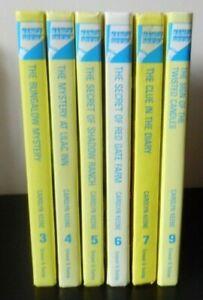 6 X NANCY DREW MYSTERY STORIES BOOKS HB 3, 4, 5, 6, 7 & 9 CAROLYN KEENE