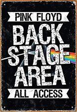 Rosa Floyd Backstage Letrero Metal (nm