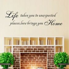 LIFE & LOVE Removable Art Vinyl Quote Wall Stickers Decal Mural Home Decor