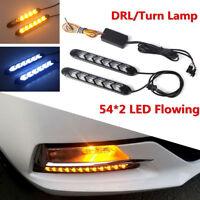 stretchable dual-color LED strip light bar Car DRL Turn Signal lamp elegant nice