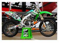 Solitaire Kawasaki KXF 450 2012 - 2015 graphics kit AMA Motocross Supercross
