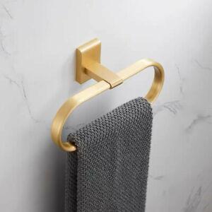 Bath Accessory Towel Ring Brushed Gold Towel Holder Bath Towel Rack Brass Gold