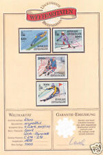 1979 CENTRAL AFRICA OLYMPICS LAKE PLACID SPORTS IMPERF PROOFS With CERTIFICATE