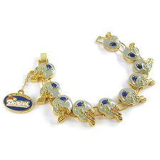 NFL Football New England Patriots Fashionable Gold Charm Bracelet