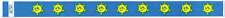 Blue Smiley Sun TYVEK Wristbands 500 in a pack